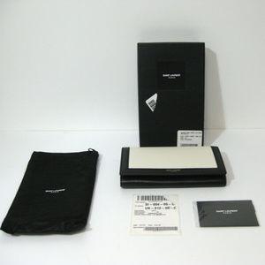 SAINT LAURENT PARIS NWT Black & Bone Large Wallet